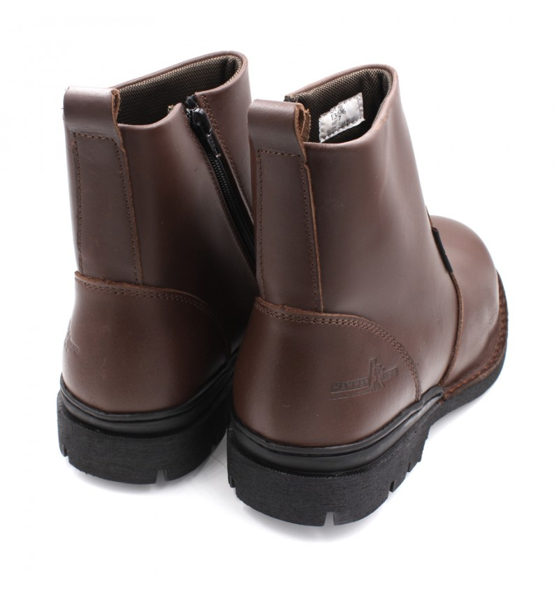 HAMMER KING Genuine Cow Leather Safety Boot MZHK13006 Brown