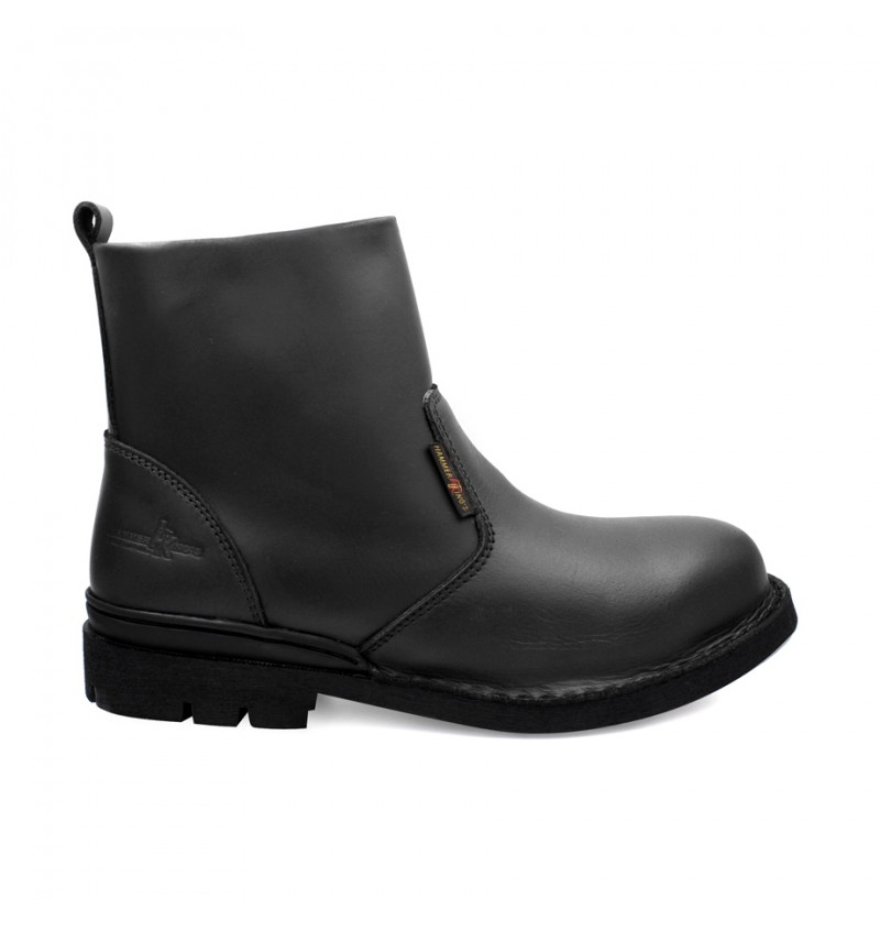 HAMMER KING Genuine Cow Leather Safety Boot MZHK13006 Black