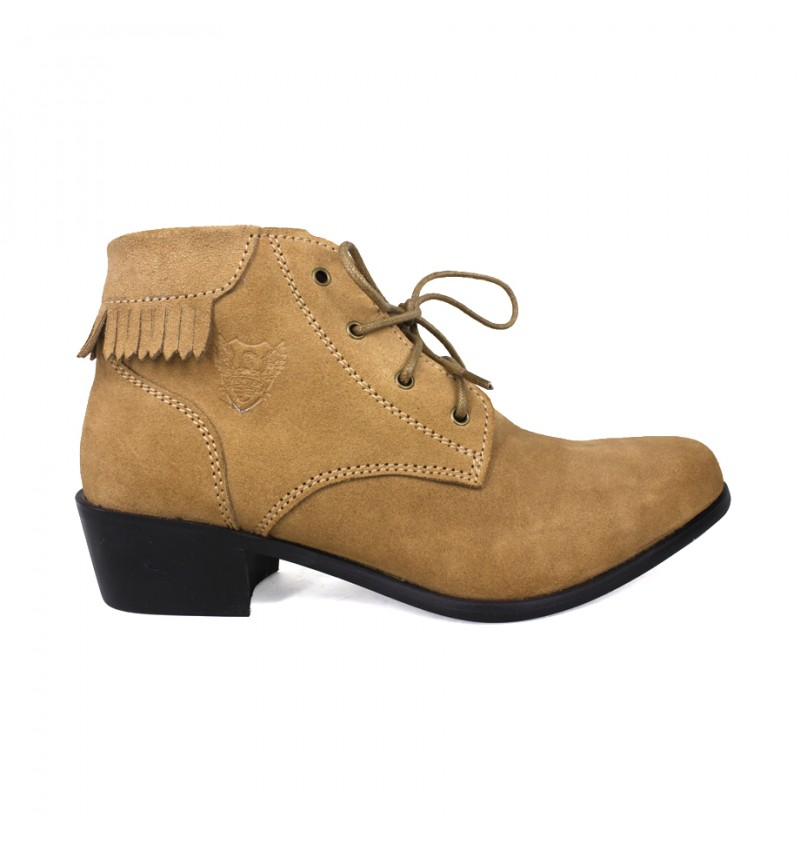 EAGLE HUNTER Women Handmade Genuine Cow Suede Leather Boots EHL90031 Camel