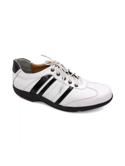 EAGLE HUNTER Men Handmade Genuine Cow Leather Sneaker EHM8397 White