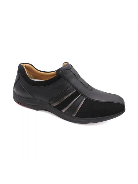 EAGLE HUNTER Men Handmade Genuine Cow Leather Sneaker EHM9615 Black
