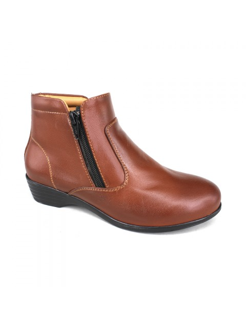 EAGLE HUNTER Women Handmade Genuine Cow Leather Boots EHL90344 Brown