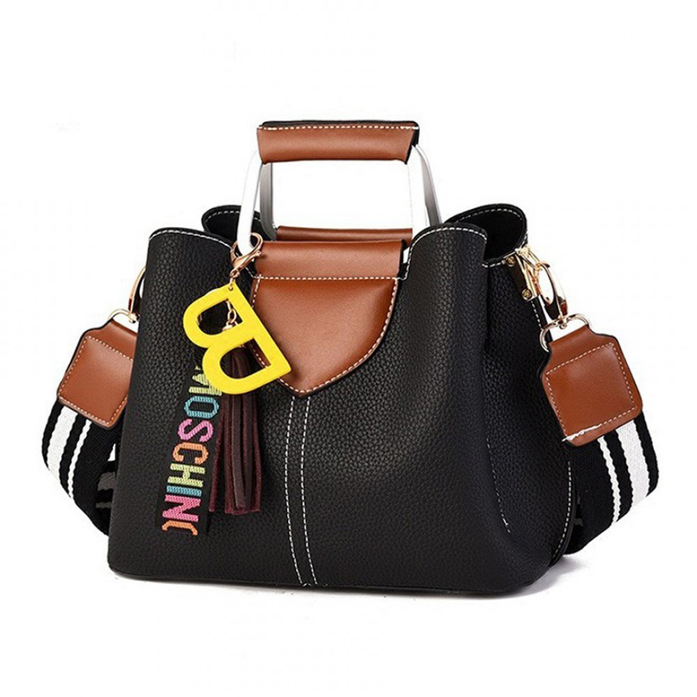 Top Handle Women Casual Handbag (Black)