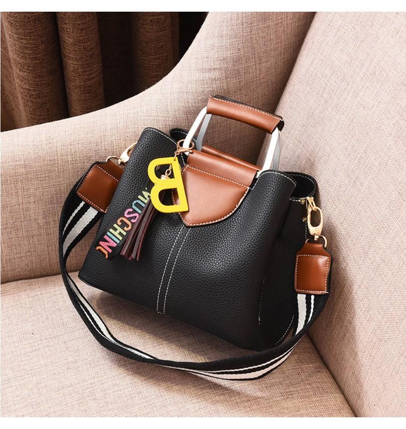 Top Handle Women Casual Handbag (Black)