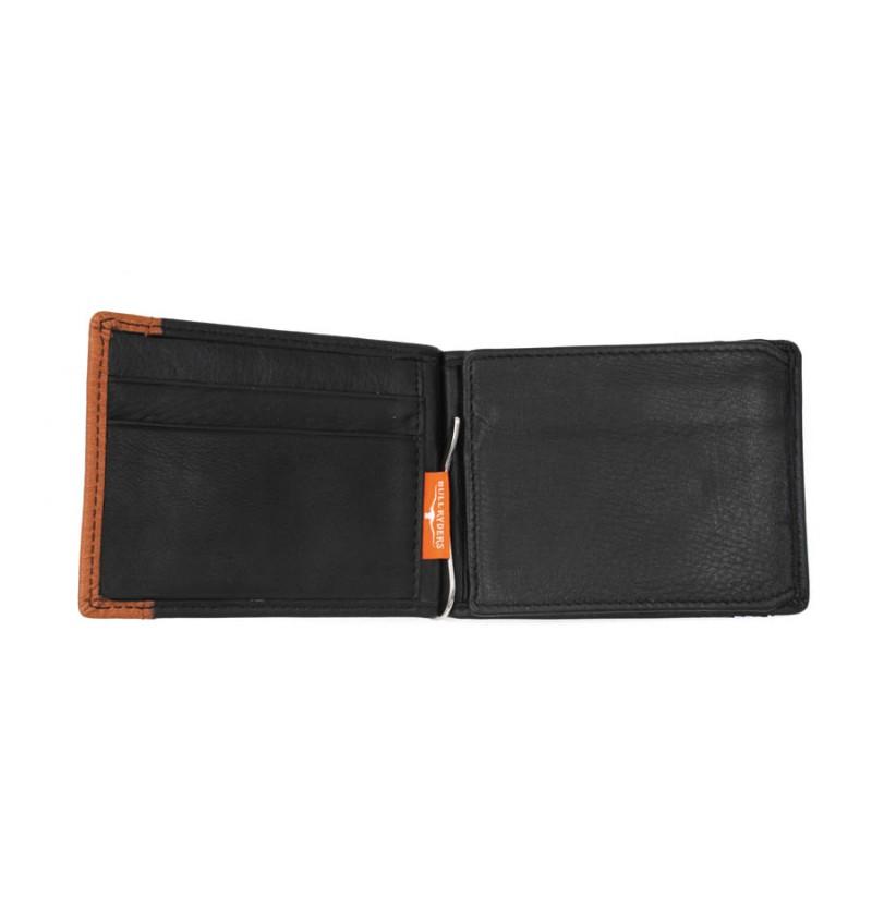 BULL RYDERS Genuine Leather Clip Wallet BWEG-80176