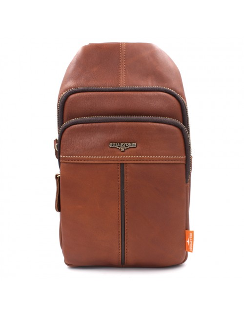 BULL RYDERS Premium Leather Should Sling Bag BR-88149 Brown