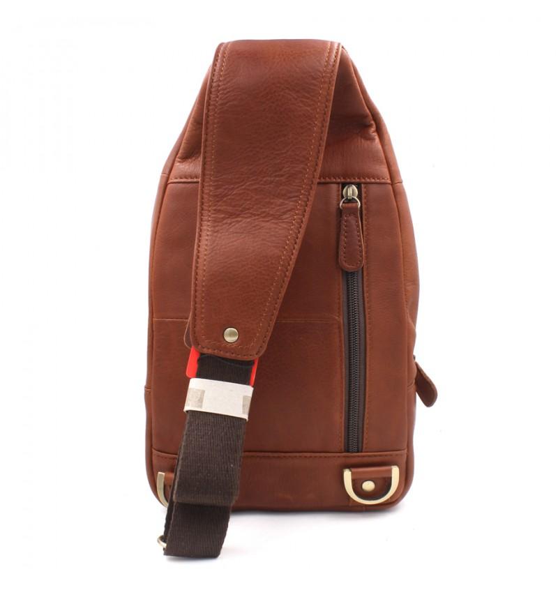 BULL RYDERS Premium Leather Should Sling Bag BR-88151 Brown