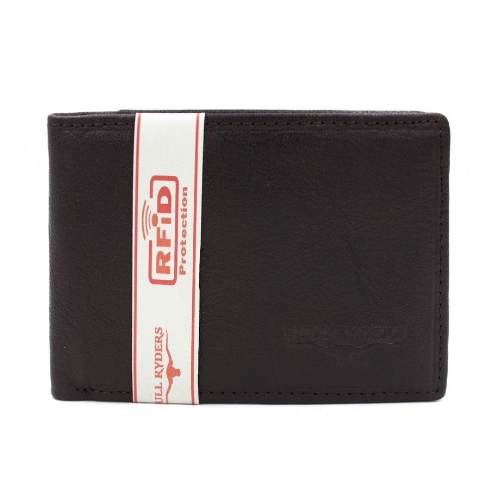 BULL RYDERS RFID Protection Genuine Cow Leather Wallet BWGP-80500