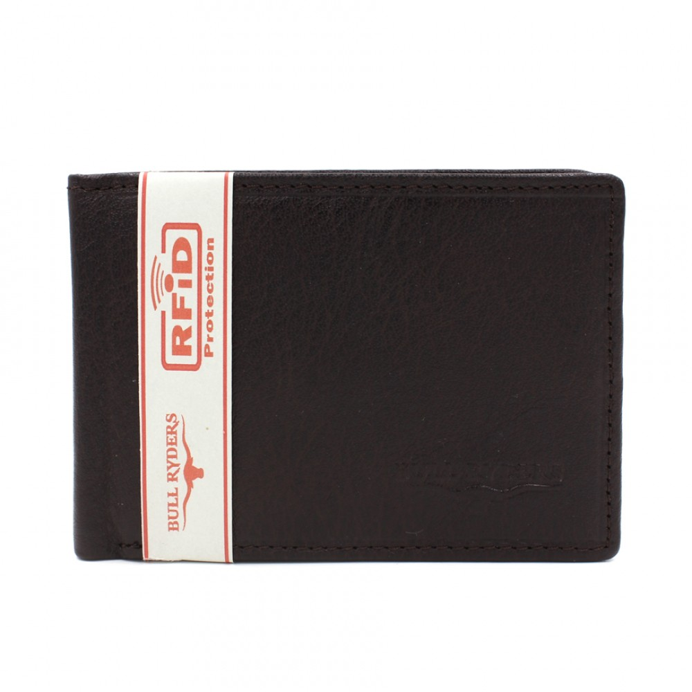 BULL RYDERS RFID Protection Genuine Cow Leather Wallet BWGP-80502