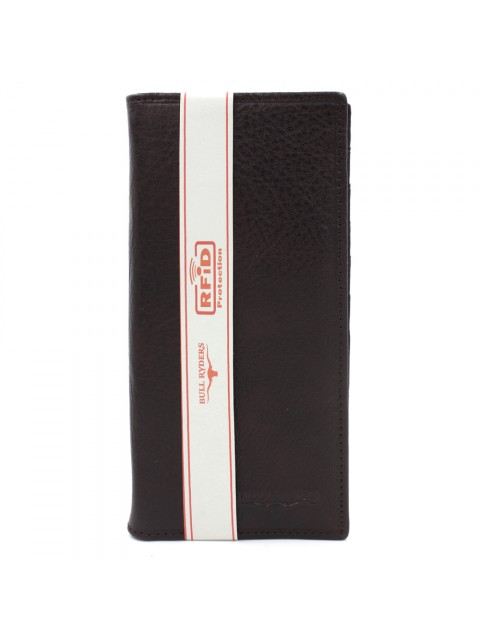 BULL RYDERS RFID Protection Genuine Cow Leather Long Wallet BWGP-80504