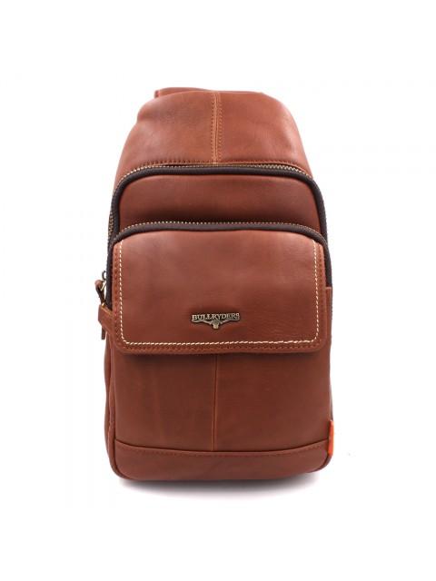 BULL RYDERS Premium Leather Should Sling Bag BR-88150 Brown
