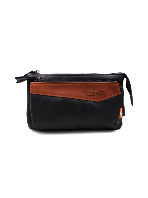 BULL RYDERS Premium Leather Waist Bag BR-88110 Black Brown