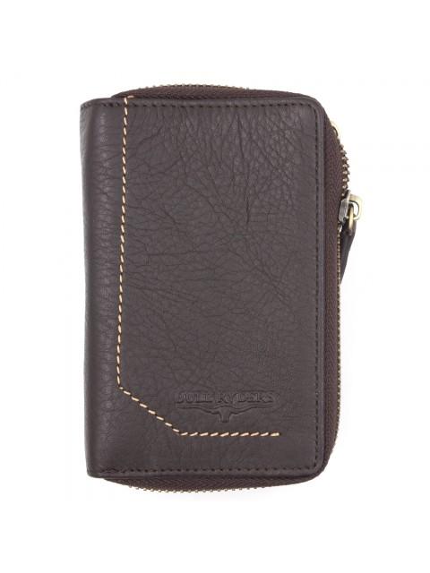 BULL RYDERS Genuine Cow Leather Zipper Wallet BWGK-80481