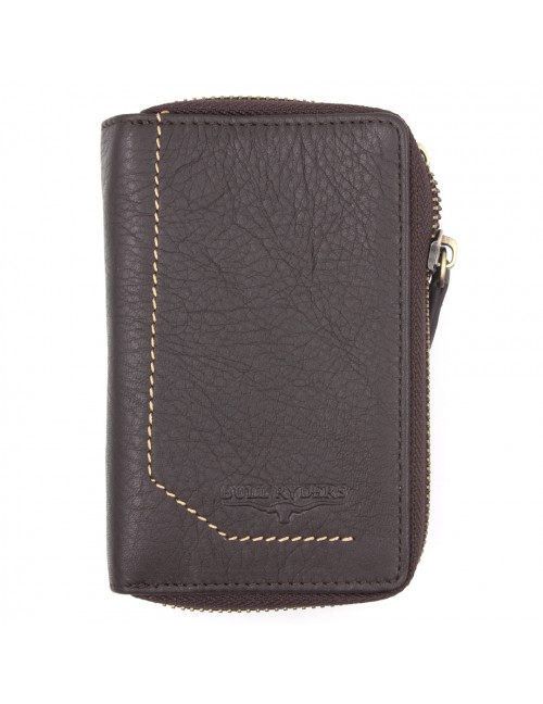 BULL RYDERS Genuine Cow Leather Zipper Wallet BWGK-80481