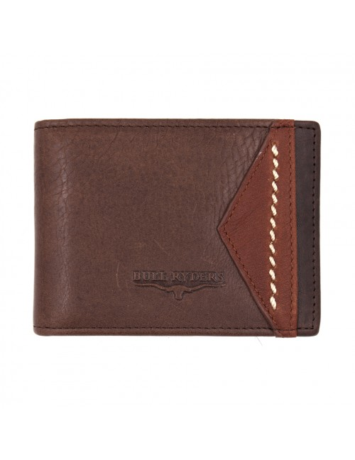BULL RYDERS Genuine Cow Leather Wallet BWGQ-80508