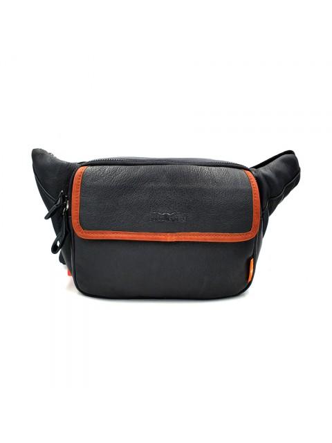 BULL RYDERS Premium Leather Waist Bag BR-88108 Black