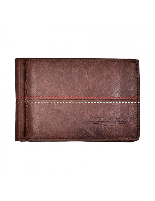 BULL RYDERS Genuine Cow Leather Card Wallet BWHB-80581