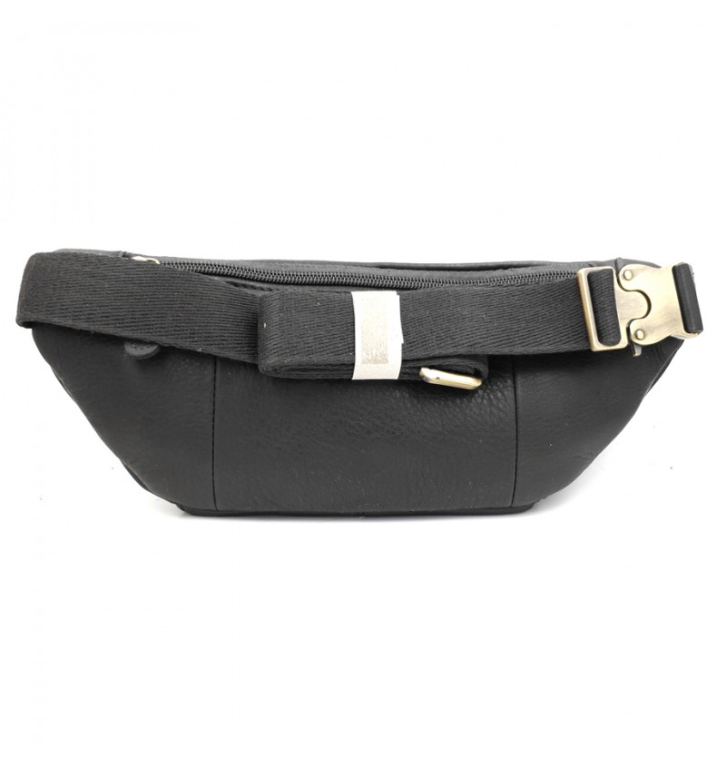 BULL RYDERS Genuine Cow Leather Waist Bag BR-88136 Black