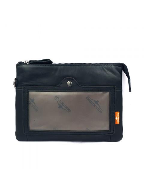 BULL RYDERS Cow Leather Waist Bag BR-88112 Black