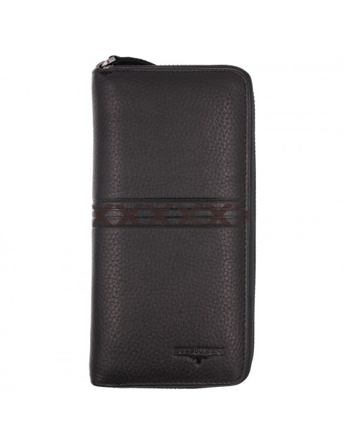 BULL RYDERS Genuine Cow Leather Long Zipper Wallet BWHE-80602-20
