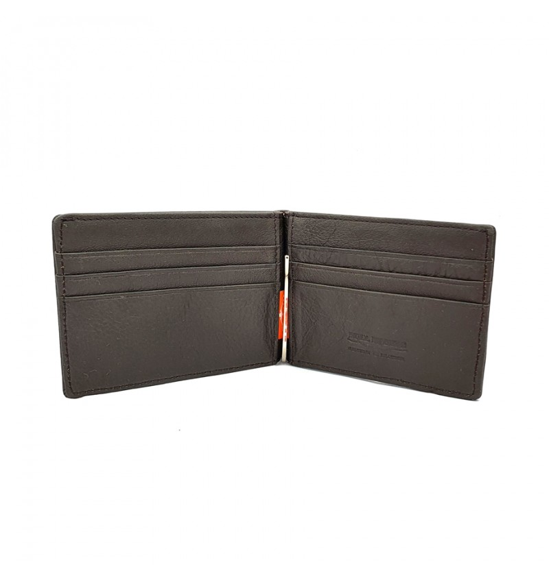 BULL RYDERS Genuine Cow Leather Clipper Card Wallet BWHY-80707