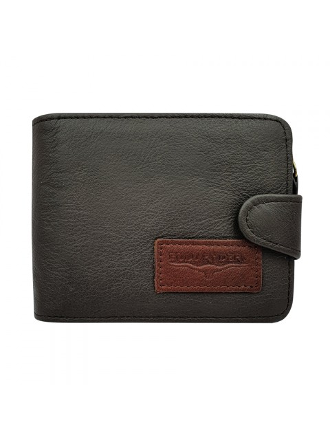 BULL RYDERS Genuine Cow Leather Zipper Wallet BWHY-80714