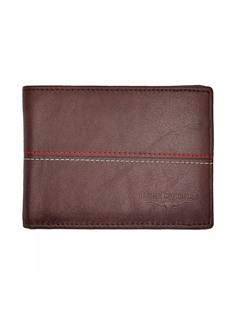 BULL RYDERS Genuine Cow Leather Wallet BWHB-80583 Dark Brown
