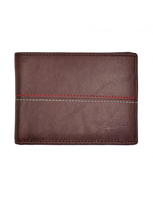 BULL RYDERS Genuine Cow Leather Wallet BWHB-80583 Dark Brown
