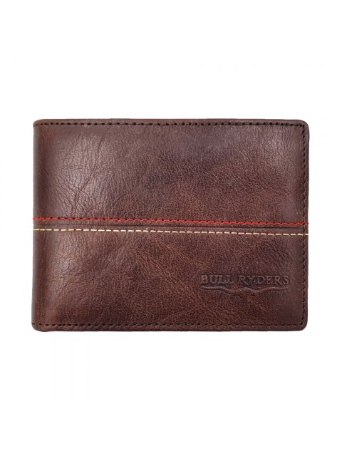BULL RYDERS Genuine Cow Leather Wallet BWHB-80584 Dark Brown