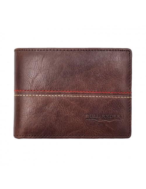 BULL RYDERS Genuine Cow Leather Wallet BWHB-80584 Dark Brown