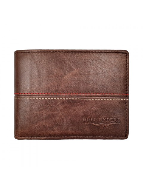 BULL RYDERS Genuine Cow Leather Wallet BWHB-80585 Dark Brown