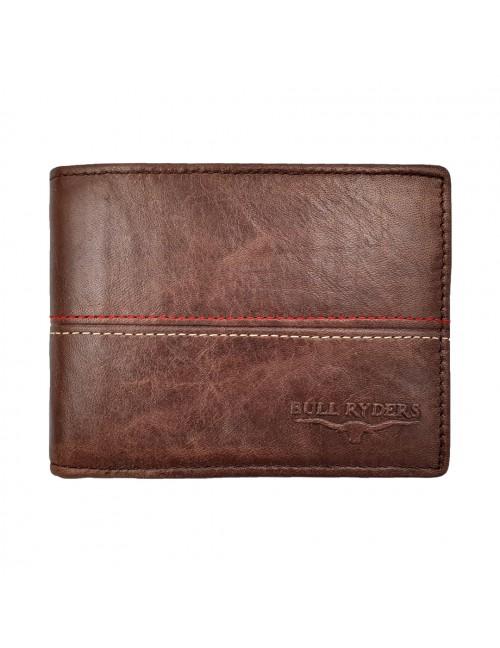 BULL RYDERS Genuine Cow Leather Wallet BWHB-80585 Dark Brown