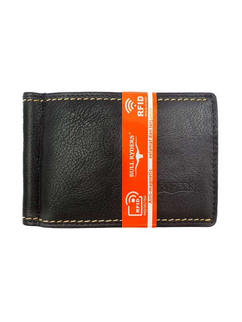 BULL RYDERS RFID Protection Genuine Cow Leather Wallet BWGX-80557