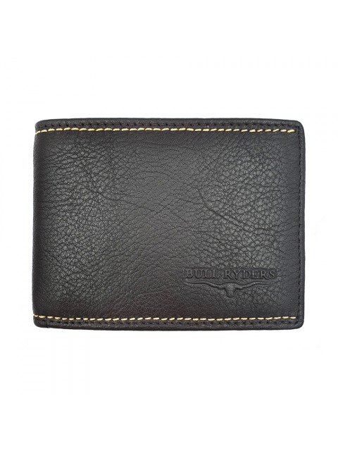 BULL RYDERS RFID Protection Genuine Cow Leather Wallet BWGX-80559