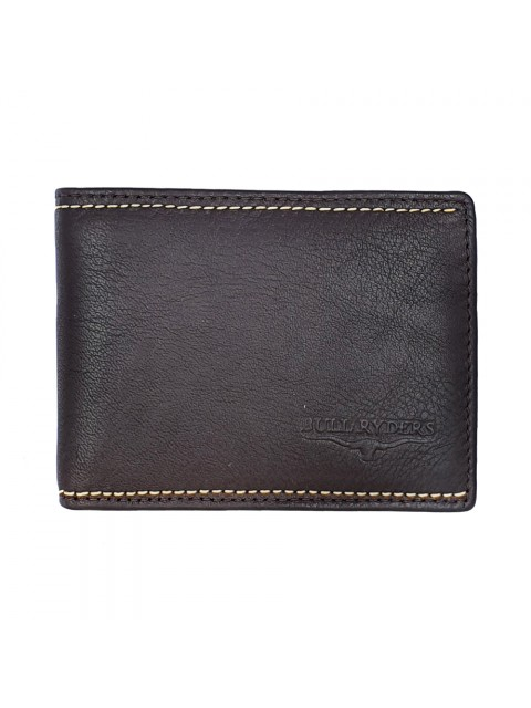 BULL RYDERS RFID Protection Genuine Cow Leather Wallet BWGX-80561
