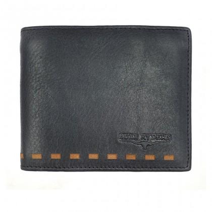 Bifold Leather Mens Large Wallet - Black BWHC-80587