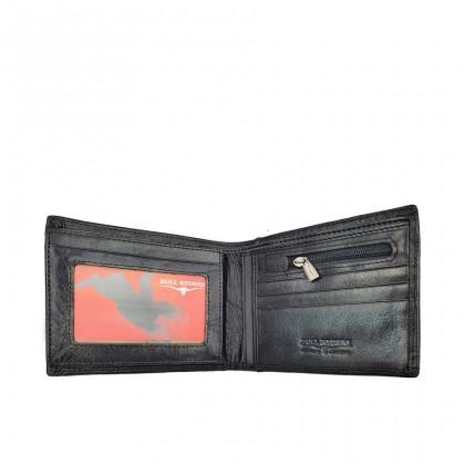 Bifold Leather Mens Large Wallet - Black BWHC-80588
