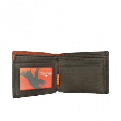 Bifold Leather Mens Wallet - Black BWHA-80576
