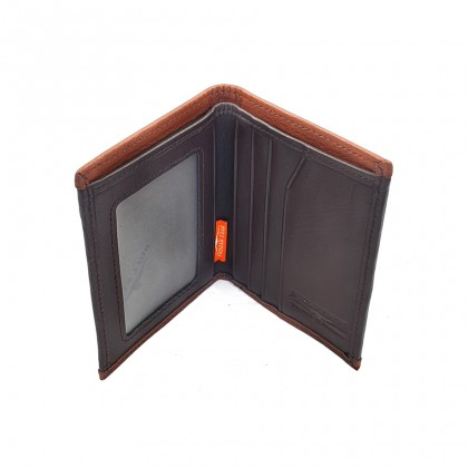 Bifold Leather Mens Minimalist Wallet - Brown BWHD-80594