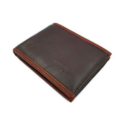 Bifold Leather Mens Wallet - Brown BWHD-80595