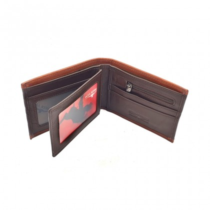 Bifold Leather Mens Wallet - Brown BWHD-80596