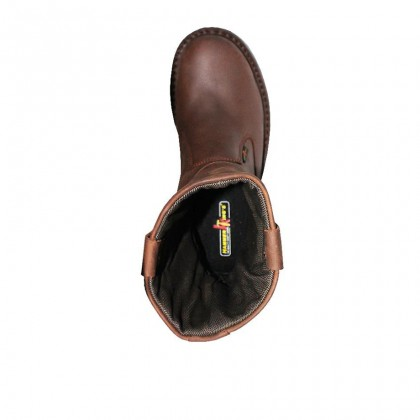 Safety Steel Toe Steel Plate Anti Slip Genuine Leather Boots - Brown MZHK13005