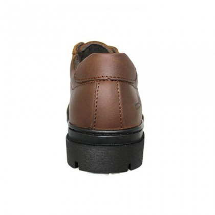 Safety Steel Toe Steel Plate Anti Slip Genuine Leather Shoes - Brown MZHK13002