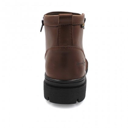 Safety Steel Toe Steel Plate Anti Slip Genuine Leather Boots - Brown MZHK13003