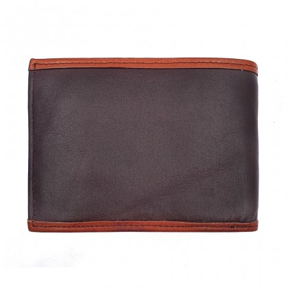 Bifold Leather Mens Wallet - Brown BWHD-80597