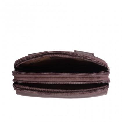 Leather Belt Bag - Dark Brown BR-88171