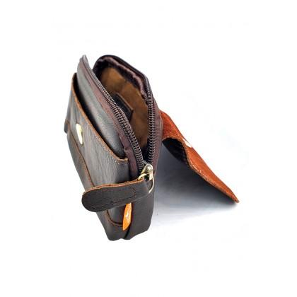 Leather Belt Bag - Dark Brown BR-88168