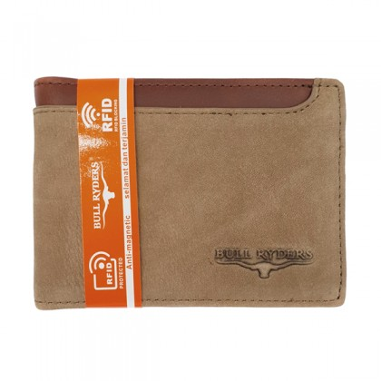 Bifold Leather Men's Wallet RFID Blocking - Brown BWGG-80455