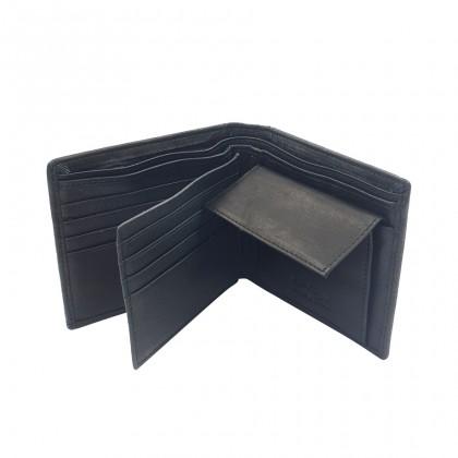 Bifold Genuine Leather Mens Wallet - Black BWHS-80677