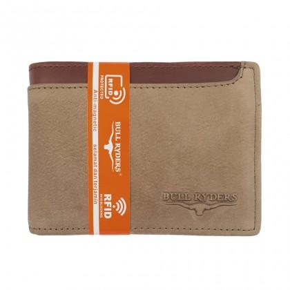 Bifold Leather Men's Wallet RFID Blocking - Brown BWGG-80457